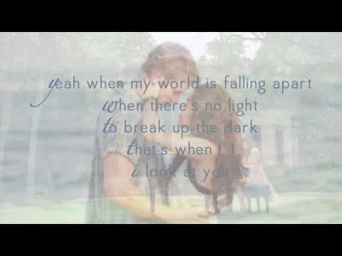 Miley Cyrus - When I Look At You - Lyrics Video