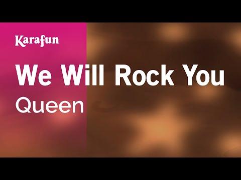 Karaoke we will rock you queen youtube