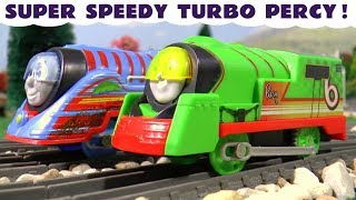 Thomas & Friends Trackmaster Turbo Speed Percy and Tomas help Aquaman TT4U