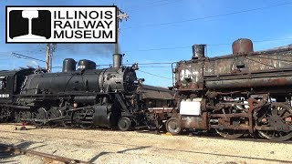 Illinois Railway Museum - Awesome Afterhours Switching w/ 1630 and other Steamers!