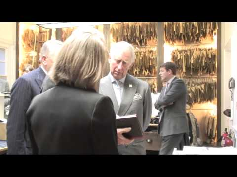 The Prince of Wales visits Savile Row tailor Anderson & Sheppard