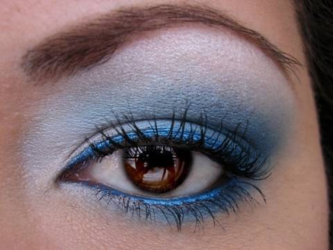 Super Bowl XLIV Makeup - Indianapolis Colts Colors