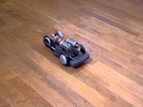 3-wheeler R/C car powered by A-20-16 stirling engine