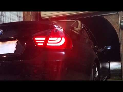 Testing my BMW E90 3 Series 320i LED 05-08 Smoked Red Lava F10 Style Taillight 2014