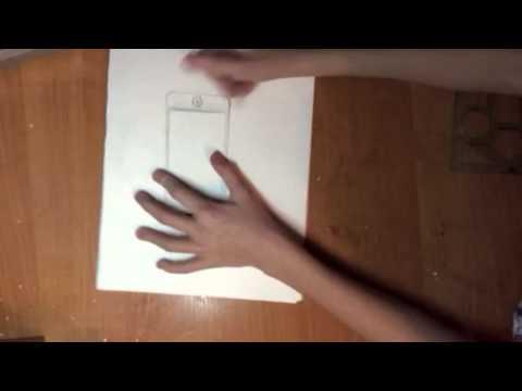 Видео как нарисовать Айфон 5 карандашом