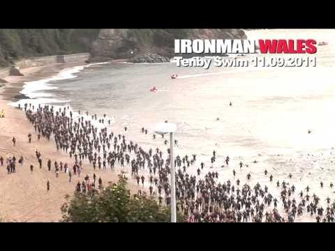 Ironman Wales Tenby 3.8k Swim from North Beach 2011 the toughest Triathlon?