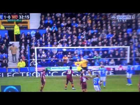 Leon Osman goal vs Manchester City 16/03/13