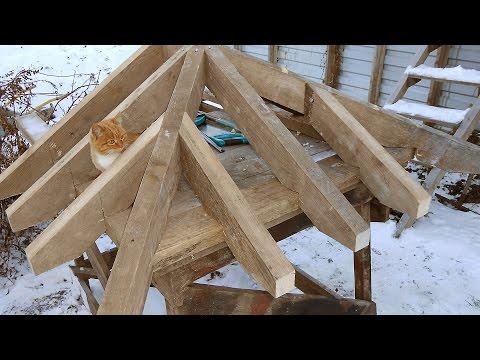 Монтаж четырехскатной крыши своими руками на доме из бруса 48