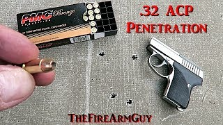 .32 ACP Penetration Test with a Seecamp LWS .32 - TheFireArmGuy