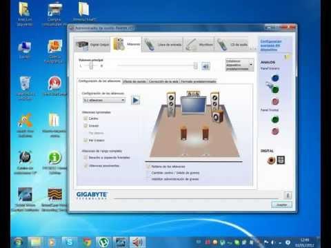 Configurar altavoces 5.1 PARA QUE SUENE EN DOS CANALES