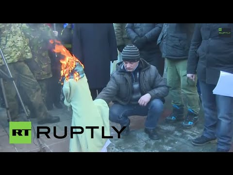 LIVE: Activists protest Kiev's economic policy outside National Bank