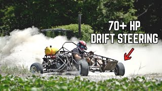 750cc Kart has FULL POWER! The Fix was SO SIMPLE!! + Drift Steering