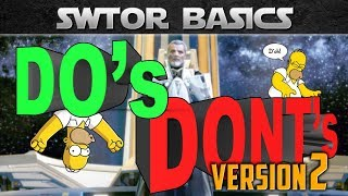 SWTOR Basics: The DOs and DONTs for beginners (KOTFE Edition, Leveling Tips)
