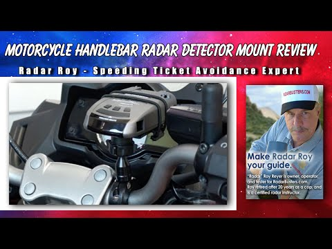 Motorcycle Handlebar Radar Detector Mount Review