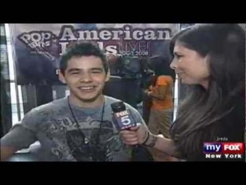08-39 David Archuleta @ FoxNews Interview - Idol Tour Newark, NJ Stop (30 Jul 2008)