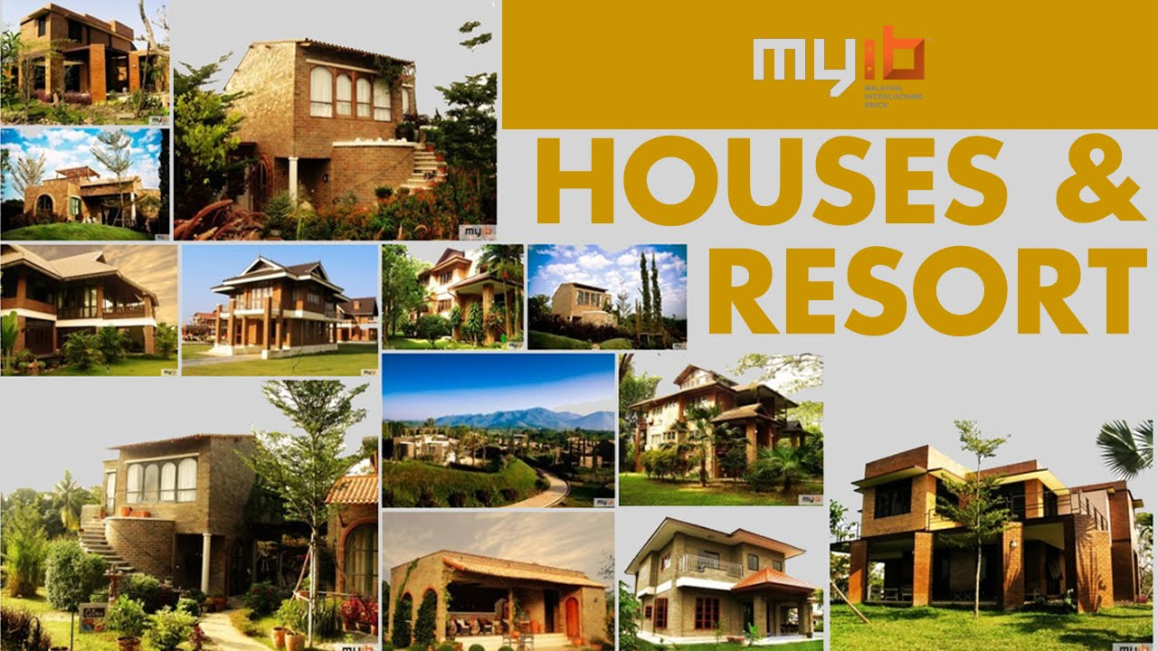 Interlocking bricks houses resort myib youtube for Interlocking brick house plans