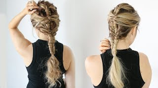 How to: Mermaid Infinity braid (on straight and curly hair!) - KayleyMelissa