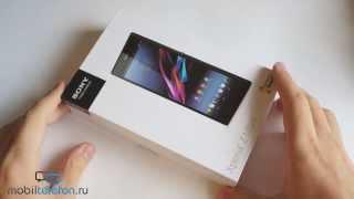 Распаковка Sony Xperia Z Ultra с док-станцией (unboxing)