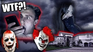 DEADLY KILLER CLOWN BREAK IN PRANK ON GIRLFRIEND!! *SHE CRIED!!*