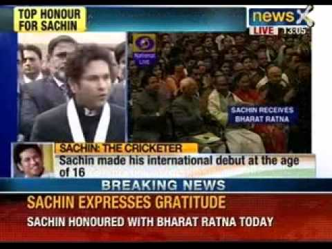 India's highest civilian honour for Sachin Tendulkar : Bharat Ratna - NewsX
