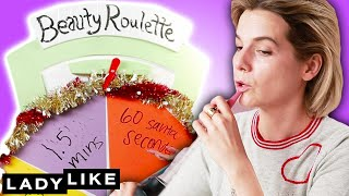 We Try Using Cooking Supplies As Makeup • Beauty Roulette • Ladylike