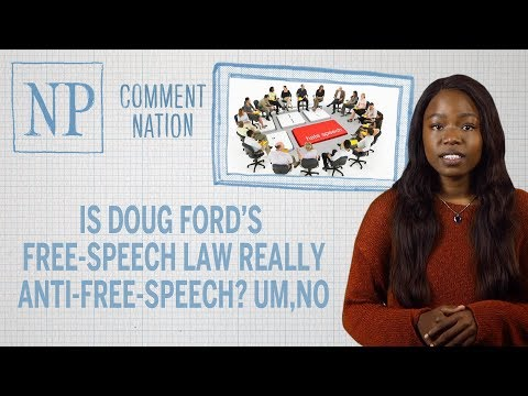 Is Doug Ford's free-speech law really anti-free-speech? Um, no MP3