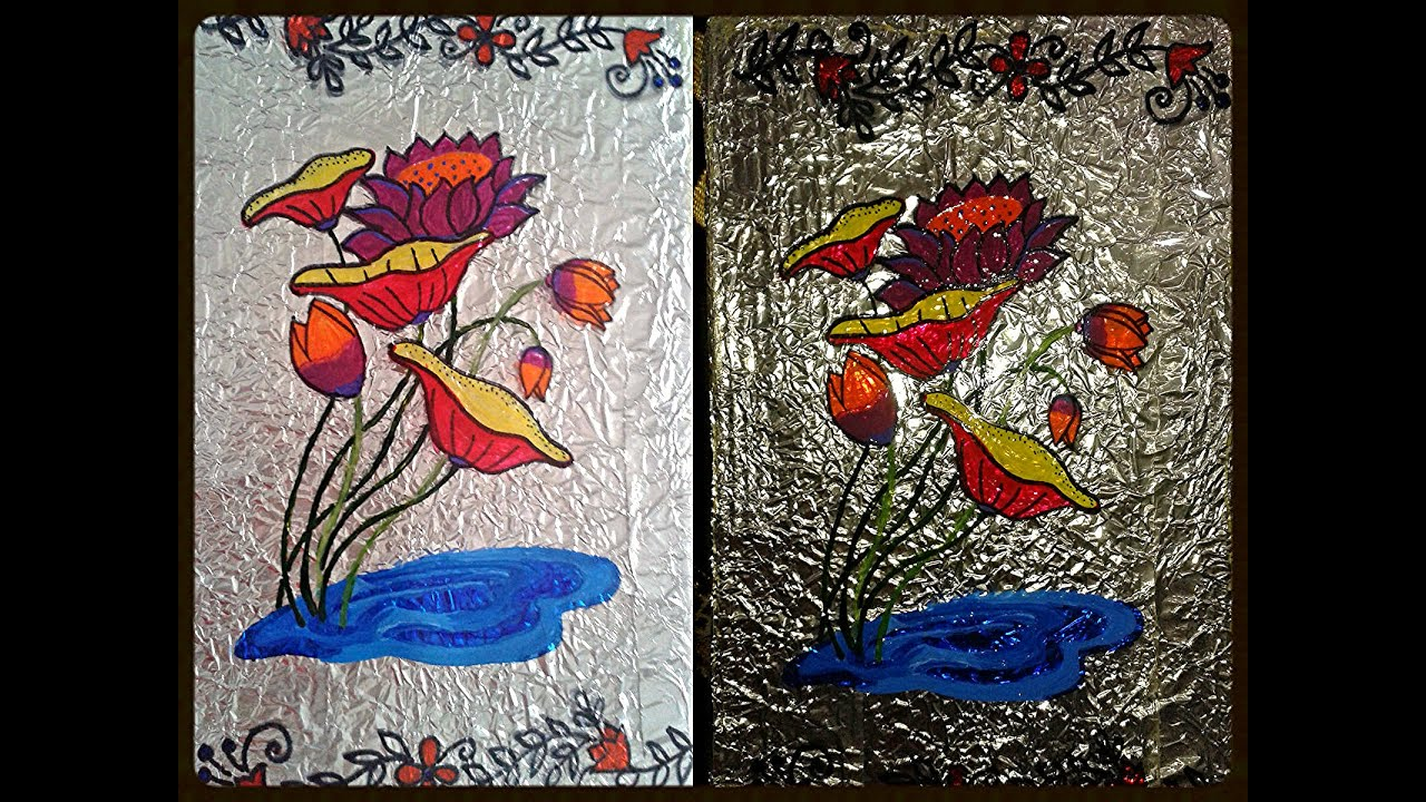 How to Do Glass Painting from a Pattern Tracing