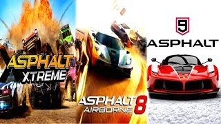 Asphalt 9 Legends vs Asphalt 8 Airborne vs Asphalt Xtreme FREE ANDROID/IOS/PC RACING GAMES!