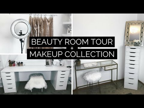 BEAUTY ROOM TOUR + MAKEUP COLLECTION