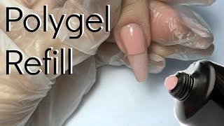 How to Polygel refill / infill | Unboxing trial and master kit | nailcou