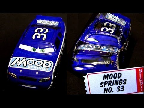 Cars 2 Mood Springs Diecast #33 With Synthetic Rubber Tires & Race Damaged Mood Springs Kmart K-day