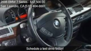 2006 BMW 7 Series 750Li 4dr Sedan for sale in San Leandro, C