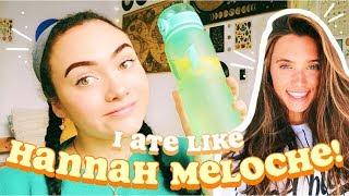 i tried following HANNAH MELOCHE'S diet & workout routine 💪🏼