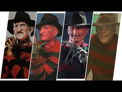 Freddy Krueger Evolution in Movies, TV and Cartoons (A Nightmare on Elm Street)