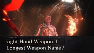 What is the LONGEST WEAPON NAME possible in DarkSouls 3?