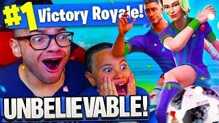 *NEW* SOCCER SKIN MADE 9 YEAR OLD LITTLE BROTHER UNSTOPPABLE! HE WON A SOLO WITH 10 KILLS FORTNITE!