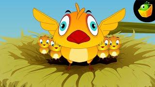 Chidiya Rani - Hindi Animated/Cartoon Nursery Rhymes For Kids