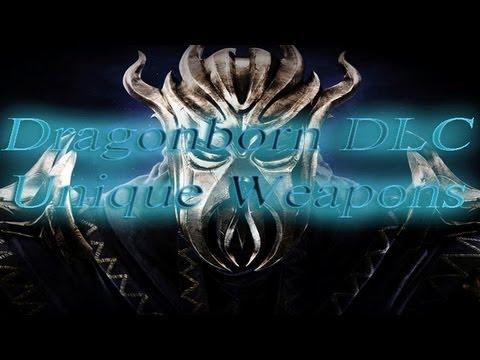 Skyrim:Dragonborn DLC- All Unique Weapons