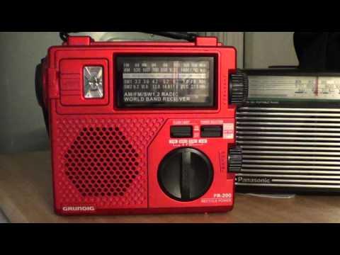 China Radio International on Grundig FR 200 hand crank shortwave radio