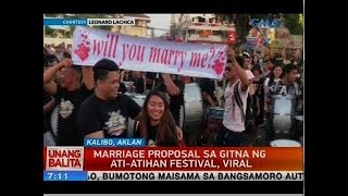 UB: Marriage proposal sa gitna ng Ati-Atihan Festival, viral