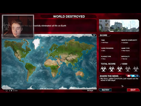 PLAGUE INC: AH RE CONCHUDA LA PLAGA