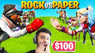 I Hosted The *BIGGEST* ROCK PAPER SCISSORS Contest in Fortnite!