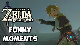 Zelda Breath of the Wild Funny Moments: Extreme Shield Surfing - Chocolate Milk Gamer
