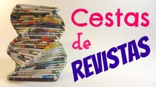 Tutorial: Cestas De Revistas. Baskets Mad ...