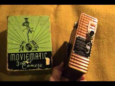 Vintage 8mm movie camera  Moviematic Home videos Retro Antique Film