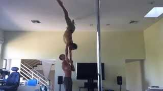 AcroYoga Co-founder Jason Nemer and Tari from Tari Television Sports Acro
