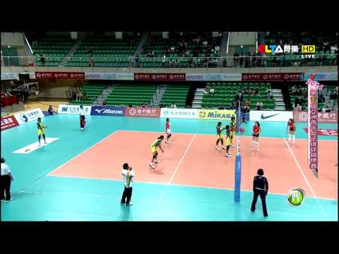 140723 Asian Women's U19 Volleyball Championships - Kazakhstan vs India
