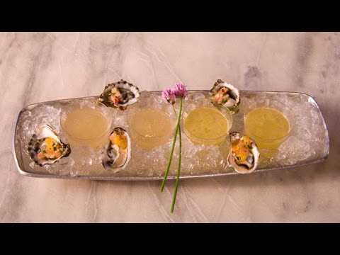Citrus Scandi Cocktail with Oysters & Citrus Splash - Kathy Casey's Liquid Kitchen - Small Screen