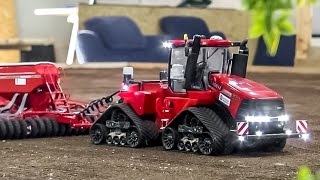 RC tractor CASE Quadtrac 600 in ACTION! Amazing 1:32 scale model!