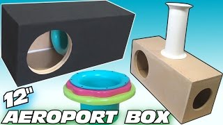 "How To BUILD a Subwoofer BOX w/ 12"" Ported Sub Enclsoure DESIGN & Custom Adjustable Aero Port"